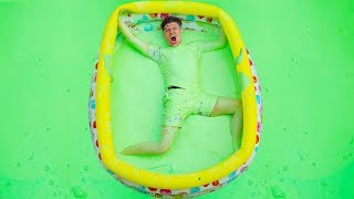 I TRAPPED PrestonPlayz in an OOBLECK Pool! - Challenge