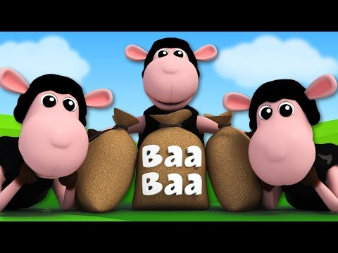 Baa Baa Black sheep | 3D Nursery Rhymes | Kids Songs | Videos For Children