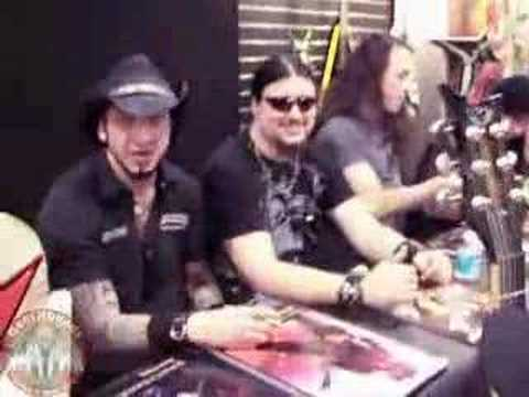 Tom Maxwell, Matt Heafy, and Corey Beaulieu at NAMM '08