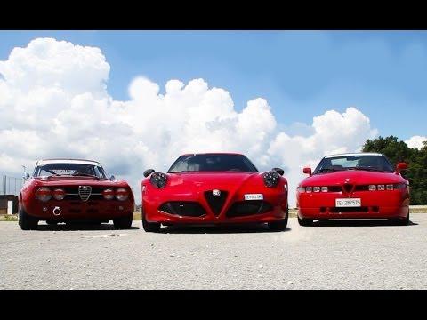 Alfa 4C vs Alfa Giulia GTAm in pista - Davide Cironi drive experience