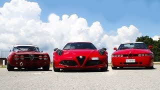 Alfa 4C vs Giulia GTAm in pista - Davide Cironi Drive Experience (ENG.SUBS)