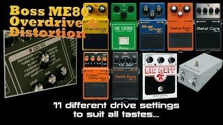 Boss ME-80 Overdrive and Distortion Demo