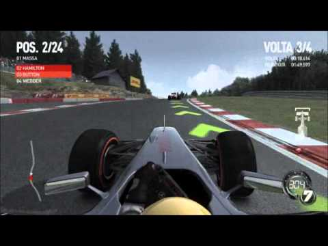 gameplay F1 2010 - SPA Mclaren