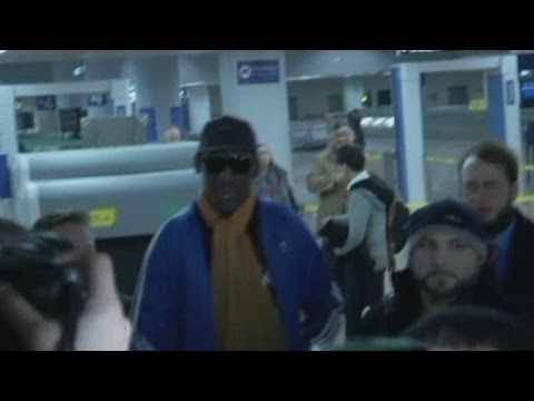 Crying Dennis Rodman returns from trip to North Korea