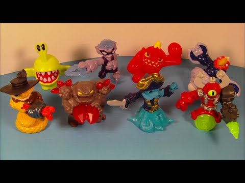 2014 SKYLANDERS SWAP FORCE SET OF 8 McDONALD'S HAPPY MEAL KID'S TOY'S VIDEO REVIEW
