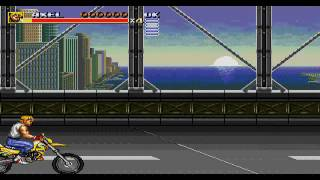 Bare Knuckle III (Streets of Rage 3) Motorbike Stages Restored: Round 7B: The Bridge [HD]