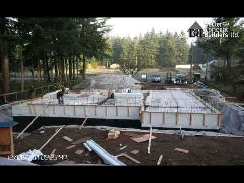 Icf house construction time lapse youtube for Icf house cost