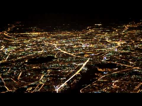 night moscow from the air