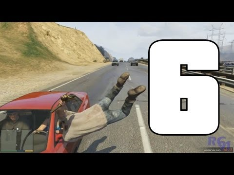 GTA V | Atropellos a cámara lenta | EPIC FAILS 6