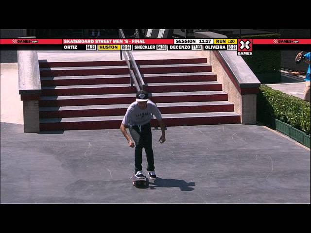 X Games 17: Nyjah Huston takes Gold in Men&#039;s Skateboard Street Final