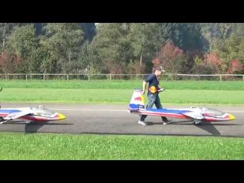 Rc Huge Glider Red Bull Look-Synchro Team Schaerer at Flugtag Hausen am Albis 2014