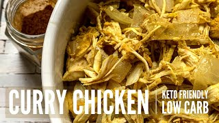 EASY Keto Recipe for Beginners | Curry Chicken Keto Bowl (Vertical Video)