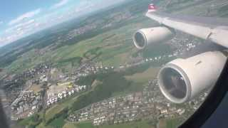 Swiss A340-300: Long takeoff from short runway - Flight from Zurich to Palma