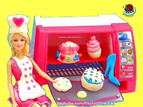 BARBIE Doll'icious PASTRY CHEF Make Bake & Decorate Toys Review | itsplaytime612