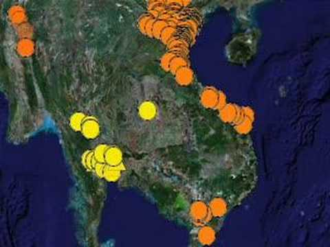Declan Butler's Avian Flu Outbreaks in Google Earth