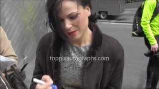 Lana Parrilla - Signing Autographs at  in New York City