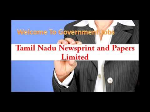 Tamil Nadu Newsprint and Papers Limited Recruitment Application Form 2015