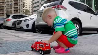 Kids Cars toy videos Excavator Cranes Tractor trucks for children