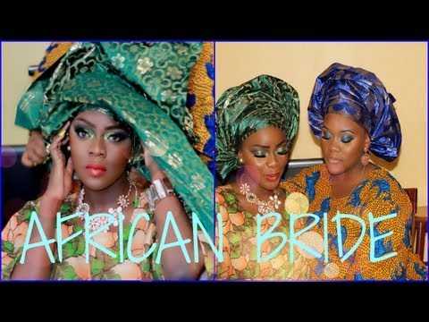 Collab with Enibaby4 | African Bride Makeup Tutorial + Gele Instructions