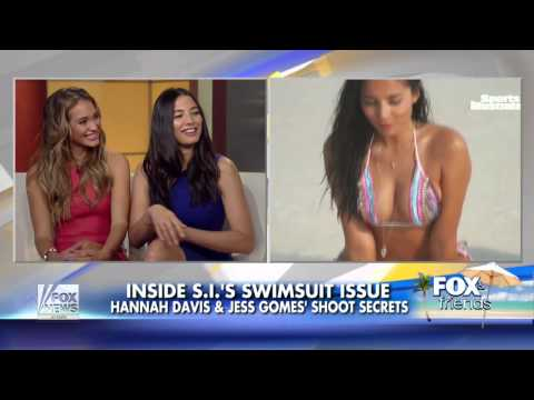 Swimsuit Models Hannah Davis and Jess Gomes Sports Illustrated 2014