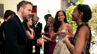 Sasha and Malia Obama Share an Epic Moment Fangirling Over Ryan Reynolds