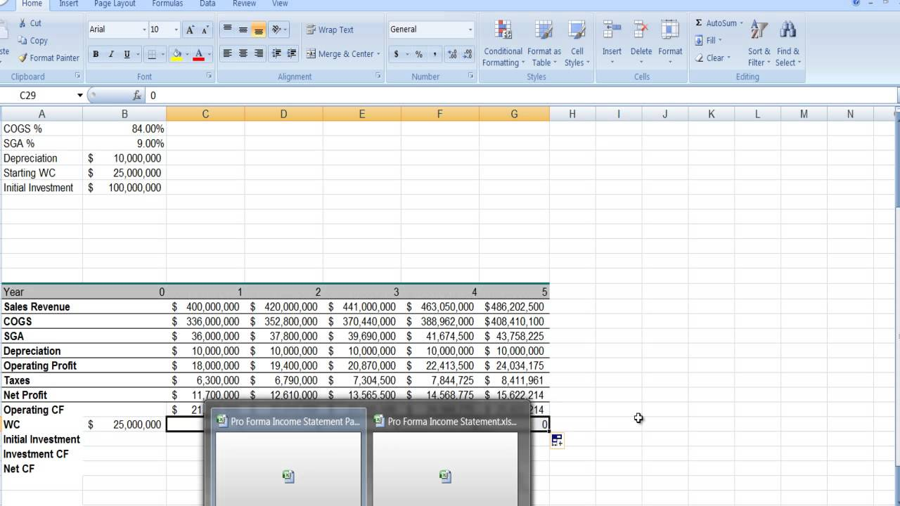 Capital Budgeting Excel Template