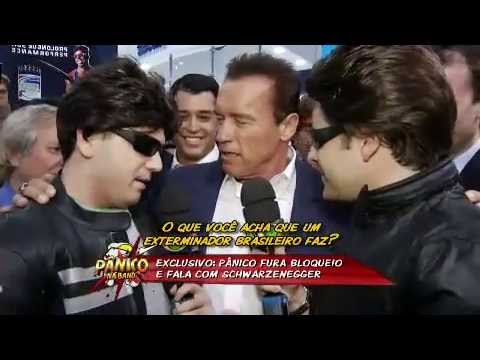 Pnico na Band 28/04/13 - Arnold Schwarzenegger encontra com equipe do pnico
