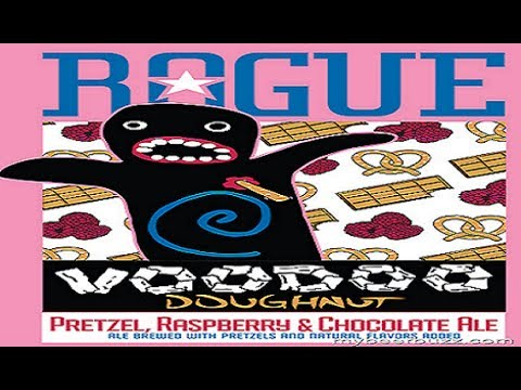 Beer Review: Rogue Voodoo Doughnut Pretzel. Raspberry & Chocolate Ale (Review #372)