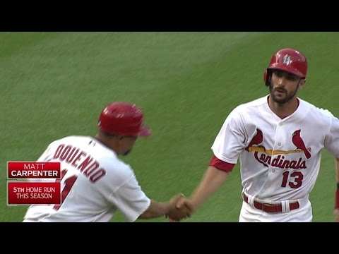 TB@STL: Cards strike first on Carpenter's home run