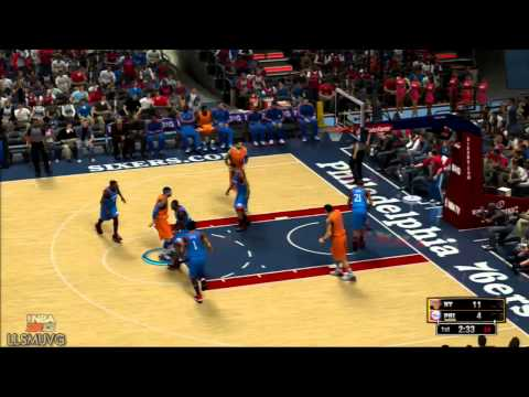 NBA 2K13 1st qtr Knicks vs 76ers