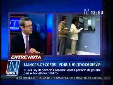 Entrevista a Juan Carlos Cortés, presidente ejecutivo de SERVIR en N Noticias - Canal N -