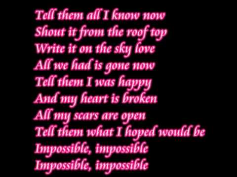Impossible Shontelle lyrics.
