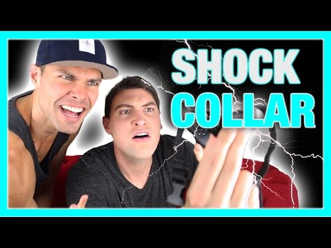 HOW TO USE A SHOCK COLLAR (ON OURSELVES) | Alx James