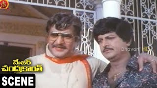 Mohan Babu Fighting Scene || Mohan Babu First Night Scene ||  Major Chandra Kanth Scene