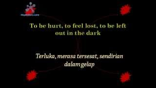 lyric welcome to my life with Indonesian subtitles