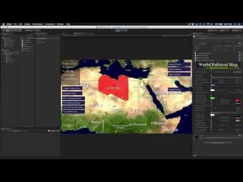 World Political Map - 2D Lite Edition Demo