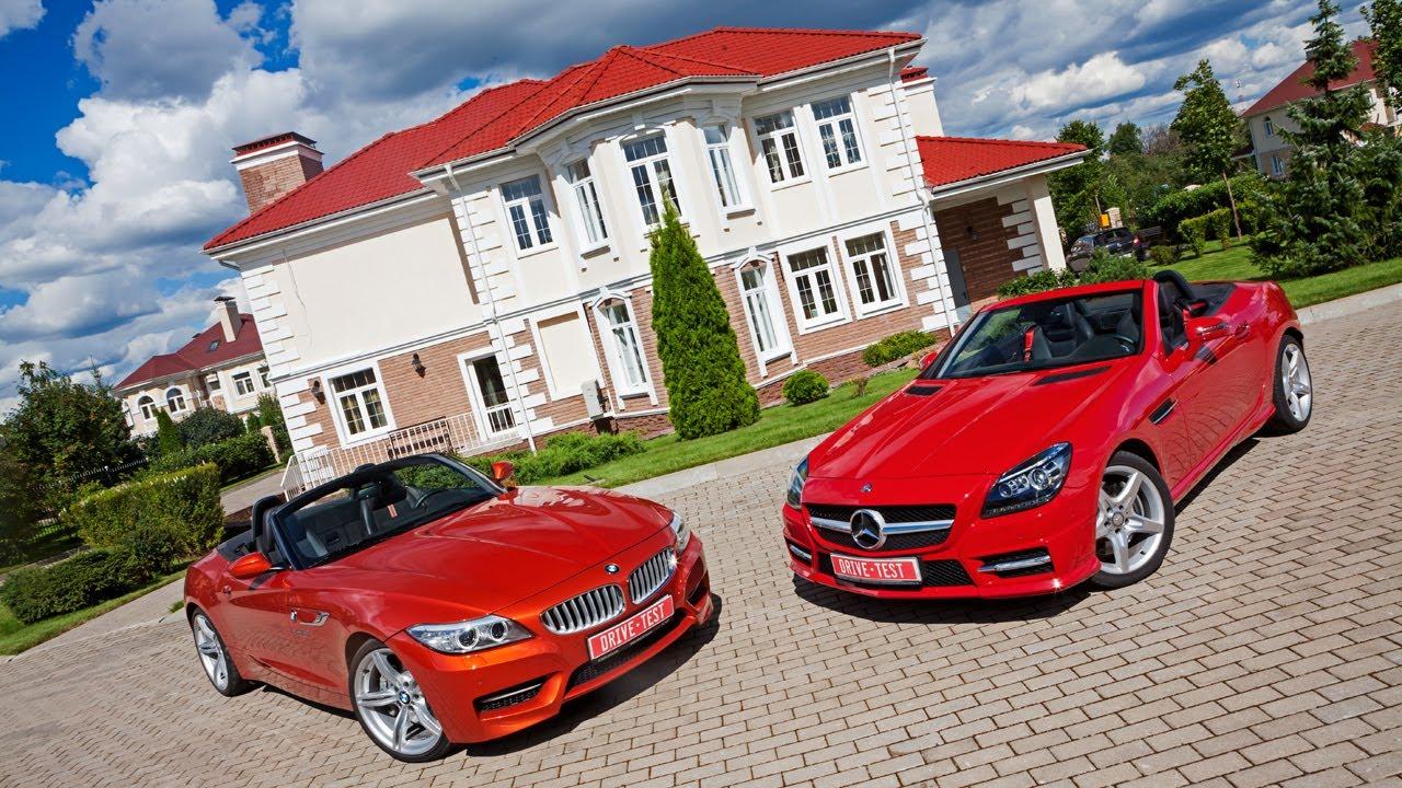 2013 Bmw Z4 Vs Mercedes Benz Slk За кадром Youtube