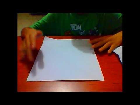 como hacer un vaso de papel