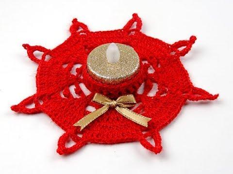 Crochet: Porta Vela # 3