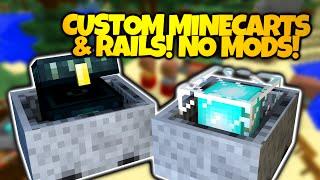 Minecraft Redstone | CUSTOM MINECARTS! | Underwater, Floating, & Hyperspeed! (Minecraft Redstone)