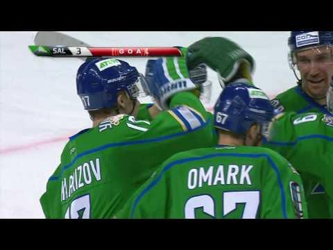Kaprizov tips in Omark spectacular assist