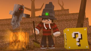 Minecraft - HALLOWEEN ATRASADO ‹ ESCOLHA A PORTA › MINI-GAME (LUCKY BLOCK)