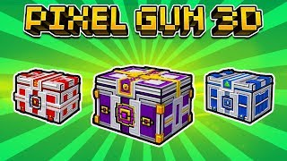 MY FIRST EVENT CHESTS OPENING - Pixel Gun 3D The New Year Chest Opening