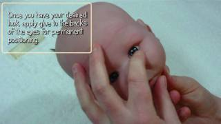 Inserting eyes from the back - Reborn Doll Tutorial