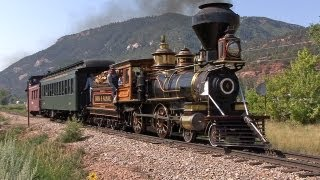 Steam in the Rockies - Eureka & Palisade 4-4-0 #4 on the Durango & Silverton
