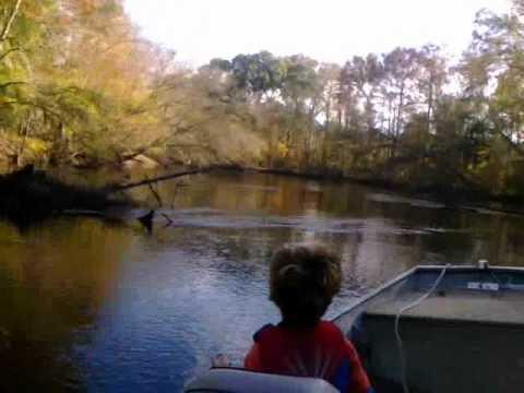 Fall 2010 Edisto river rat river trip below Orangeburg - camping in jon/john boat