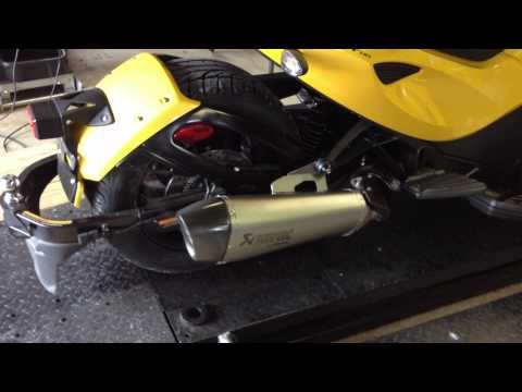 Akrapovic Sport Silencer with Baffle out on Spyder ST-S