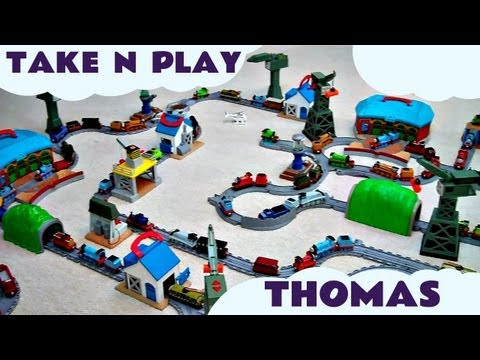 Massive Thomas & Friends Take Along Take N Play Set Thomas The Tank Engine Kids Toy Train Set