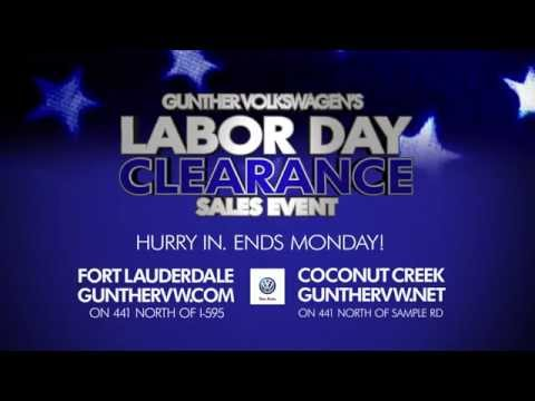 2014 Labor day clearance sales event at Gunther Volkswagen of fort lauderdale