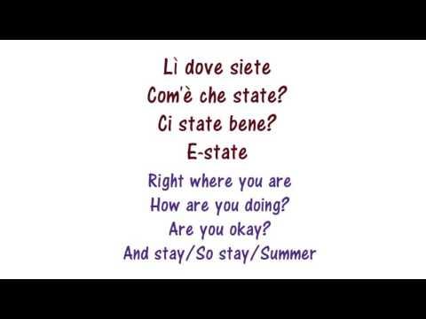 Francesco Gabbani - Tra le granite E le granate - Lyrics English and Italian - Dual Translation